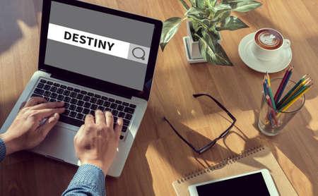 destiny: DESTINY CONCEPT man hand on table Business, coffee, Split tone