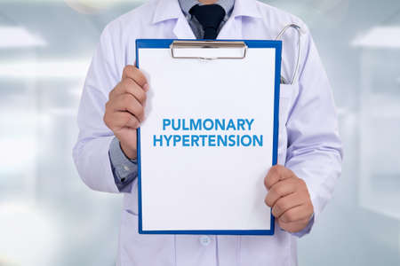 pulmonary: PULMONARY HYPERTENSION Portrait of a doctor writing a prescription