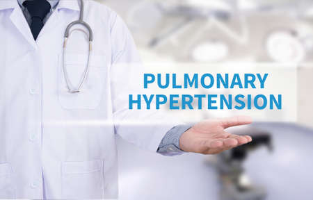 pulmonary: PULMONARY HYPERTENSION Medicine doctor hand working