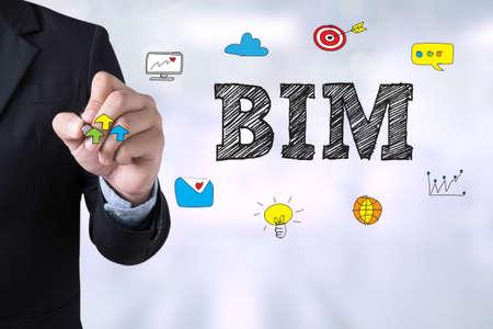 BIM dessin Landing Page sur le flou fond abstrait affaires