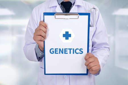 transgenic: GENETICS Portrait of a doctor writing a prescription Stock Photo