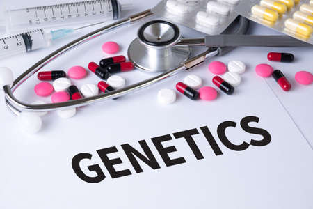 genomic: GENETICS Background of Medicaments Composition, Stethoscope, mix therapy drugs doctor flu antibiotic pharmacy medicine medical