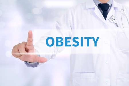 obesidad infantil: OBESIDAD Medicina médico que trabaja con el interfaz de ordenador como médica