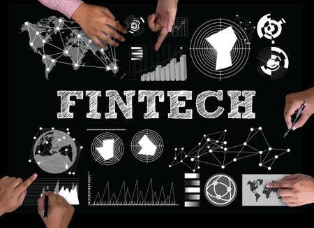 フィンテック投資金融インターネット技術 写真素材