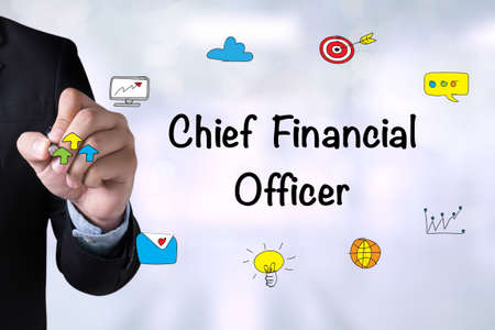 financial officer: CFO - Chief Financial Officer and Businessman drawing on board