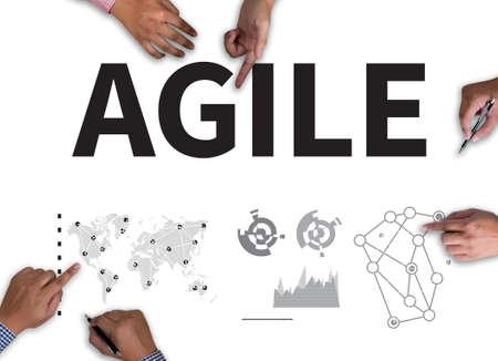 agile: Agile Concept on white background. Stock Photo