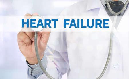 heart failure: HEART FAILURE Medicine doctor hand working on virtual screen