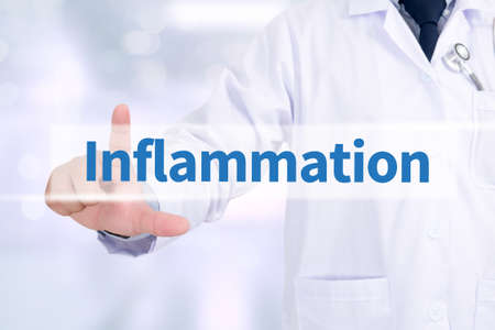 grippe: Inflammation Medicine doctor working with computer interface as medical Stock Photo
