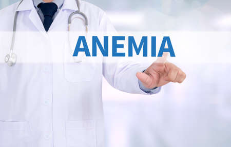 anemia: ANEMIA Medicine doctor working with computer interface as medical