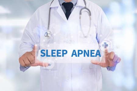 somnambulism: SLEEP APNEA Medicine doctor hand working