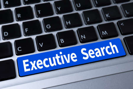 executive search: Executive Search  a message on keyboard