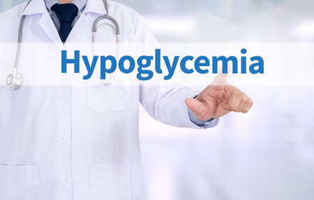 palpitations: Hypoglycemia Medicine doctor working with computer interface as medical