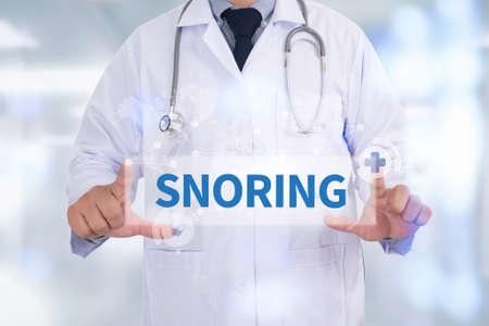 SNORING Medicine doctor hand working