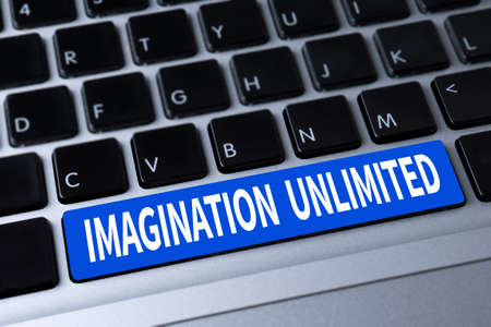unlimited: IMAGINATION UNLIMITED a message on keyboard