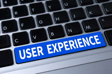 service desk: USER EXPERIENCE a message on keyboard