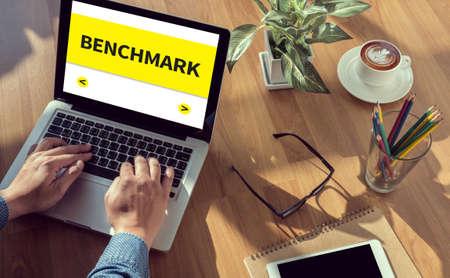 benchmark: BENCHMARK man hand on table Business, coffee, Split tone