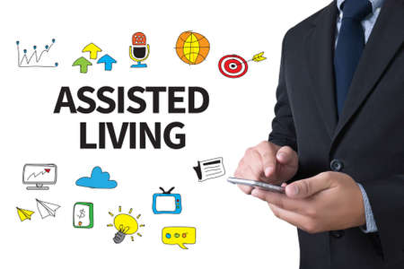 assisted living: ASSISTED LIVING businessman working use smartphone