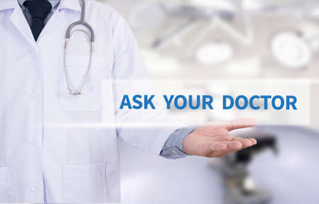 allergy questions: ASK YOUR DOCTOR Medicine doctor hand working
