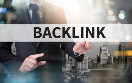 backlinks: Backlinks Technology Online Web and businessman working with modern technology