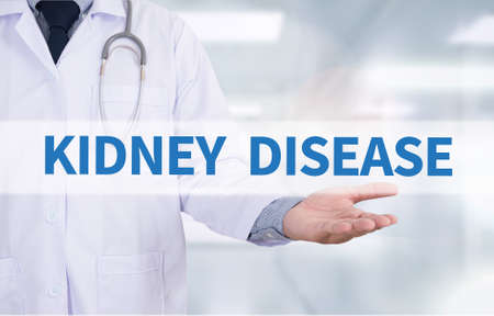 nephron: KIDNEY DISEASE        Medicine doctor hand working Stock Photo