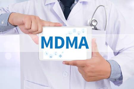 lsd: MDMA Doctor holding  digital tablet