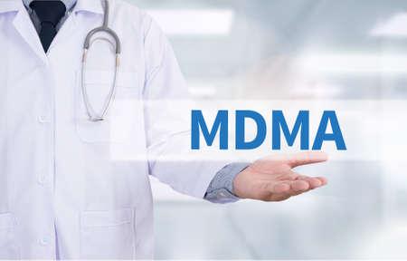 mdma: MDMA Medicine doctor hand working