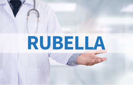 rubella: RUBELLA Medicine doctor hand working