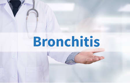 Bronchitis Medicine doctor hand working
