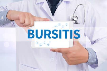musculoskeletal: BURSITIS Doctor holding  digital tablet