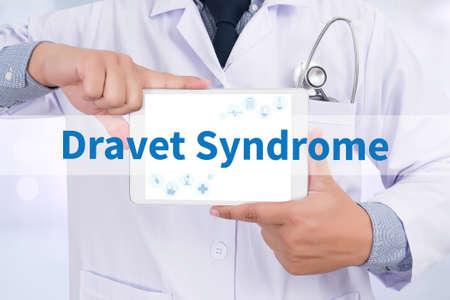 convulsions: Dravet Syndrome Doctor holding  digital tablet