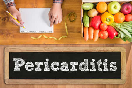 palpitations: Pericarditis fresh vegetables and  on a wooden table Stock Photo