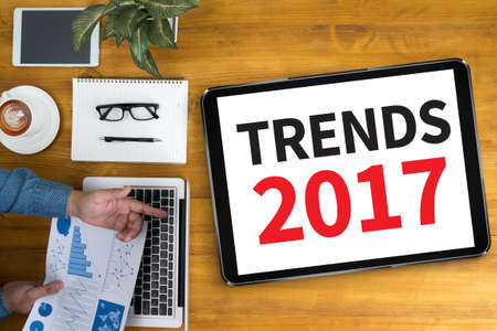 TRENDS 2017 Stock Photo