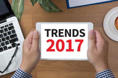 trends: TRENDS 2017 Stock Photo