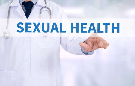 syphilis: SEXUAL HEALTH Medicine doctor working with computer interface as medical