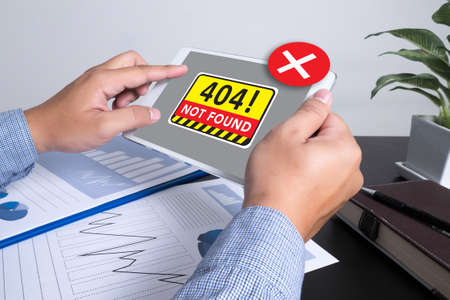 not a problem: Not Found 404 Error Failure Warning Problem Stock Photo