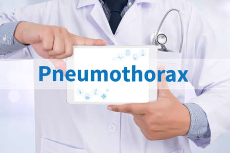 chest cavity: Pneumothorax Stock Photo