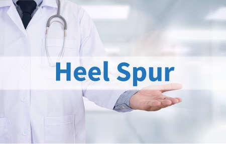 plantar: Heel Spur Medicine doctor hand working