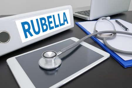 rubella: RUBELLA folder on Desktop on table. ipad
