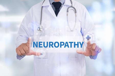 flexion: NEUROPATHY Medicine doctor hand working