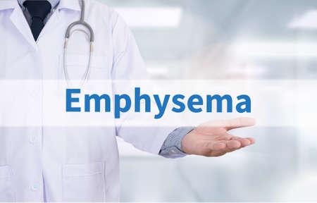 blowup: Emphysema Medicine doctor hand working