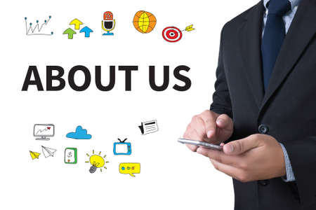 about us: ABOUT US businessman working use smartphone