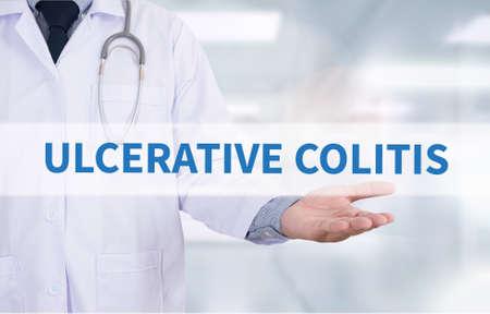 inflammatory bowel diseases: ULCERATIVE COLITIS Medicine doctor hand working Stock Photo
