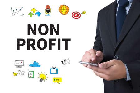 non profit: NON PROFIT businessman working use smartphone