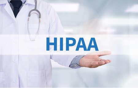 HIPAA Medicine doctor hand working