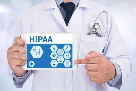 HIPAA Doctor holding  digital tablet Stock Photo - 60087869