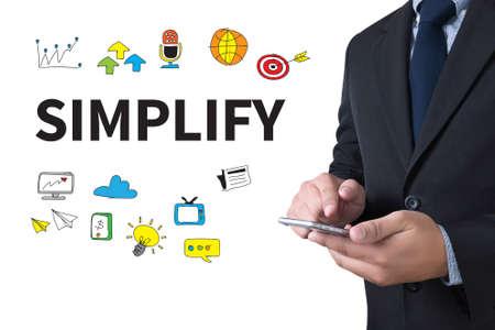 pragmatic: SIMPLIFY businessman working use smartphone