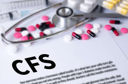 financial statement: CFS  (Consolidated Financial Statement) and Background of Medicaments Composition, Stethoscope, mix therapy drugs doctor and selectfocus