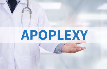 sudden death: APOPLEXY Medicine doctor hand working