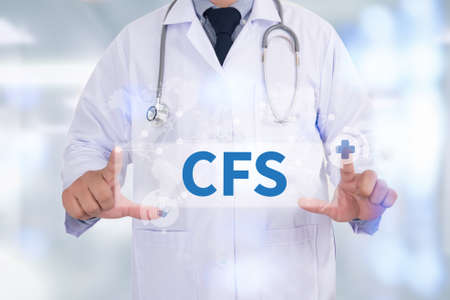 financial statement: CFS  (Consolidated Financial Statement) Medicine doctor hand working