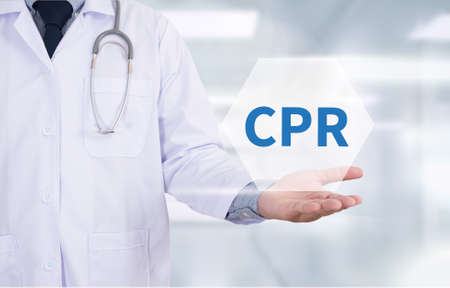 life support: CPR      Cardiopulmonary resuscitation Basic life support ( BLS )and Advanced cardiac life support ( ACLS )( mouth to mouth Medicine doctor hand working Stock Photo